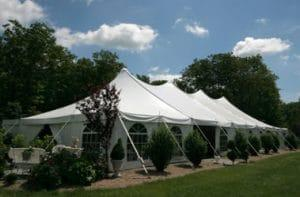 großes Zelt Veranstaltung